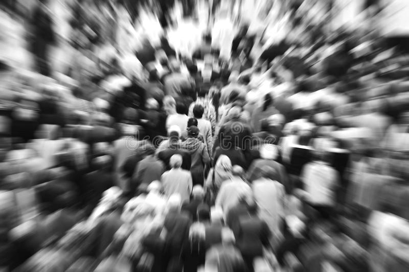 Crowd of people stock image