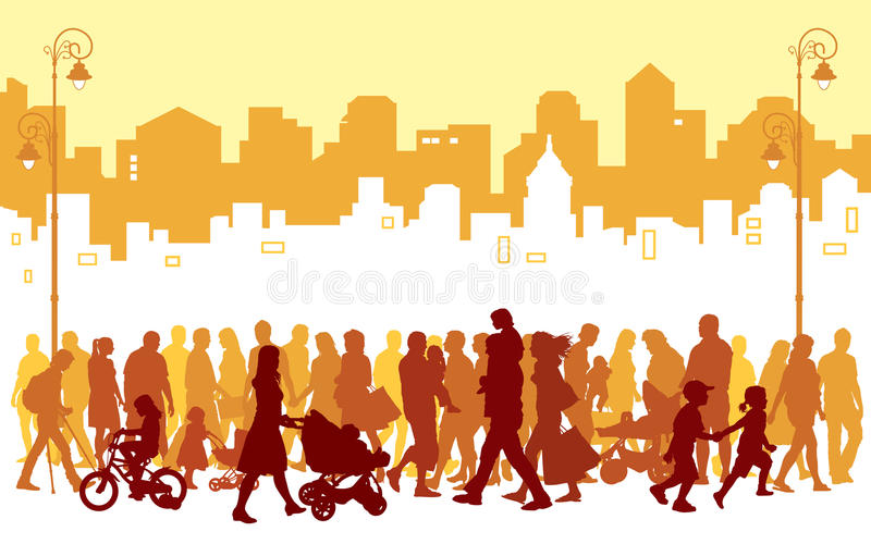 Download Crowd of people stock vector. Image of people, couple - 20601807