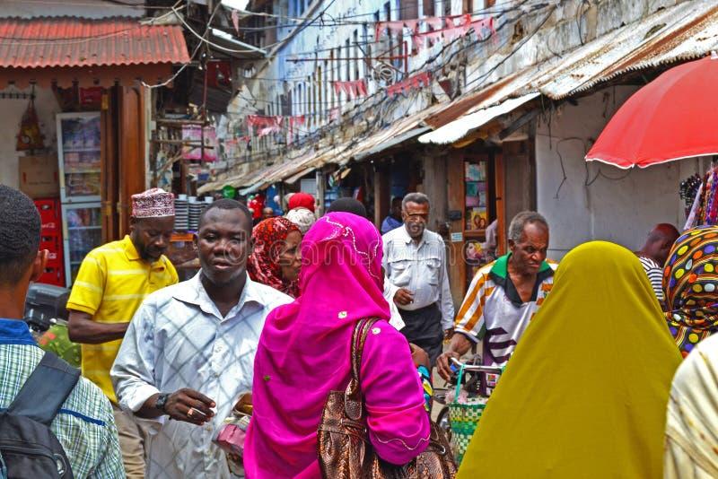 Crowd of people-Arusha,Tanzania,Africa stock image