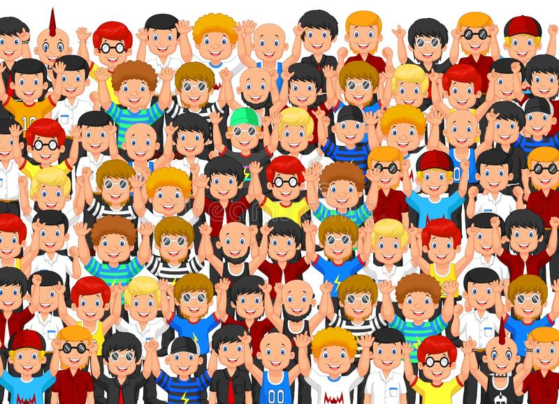 Crowd of People Cheering. Illustration of Crowd of People Cheering royalty free illustration