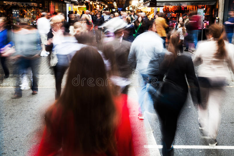 Download Crowd Of People Crossing A Street Editorial Stock Photo - Image of motion, pedestrian: 34989958