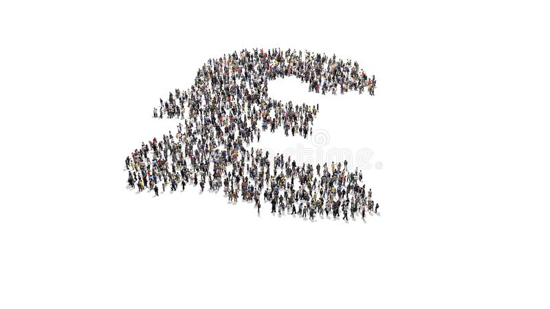 Crowd of people forming a british pound symbol shape. Crowd of people standing around and forming a british pound symbol shape high resolution stock image