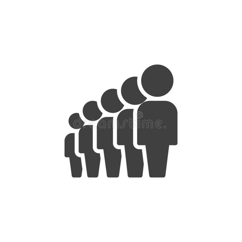 Crowd of people vector icon. Team, Teamwork filled flat sign for mobile concept and web design. People group glyph icon. Symbol, logo illustration. Vector vector illustration