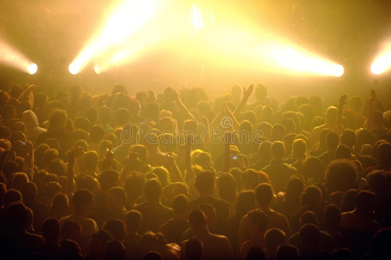 Crowd at punk concert stock photo