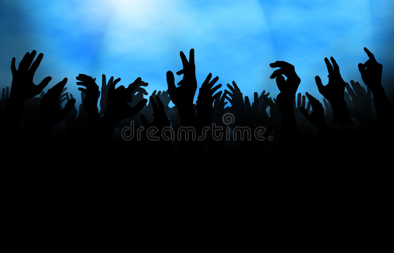 Download Crowd With Raised Hand Stock Photos - Image: 19234473
