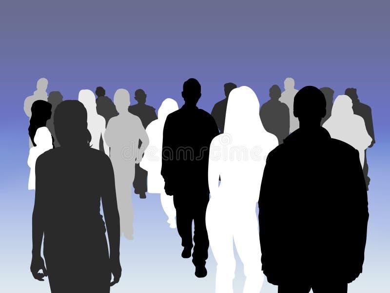 Crowd shades stock illustration