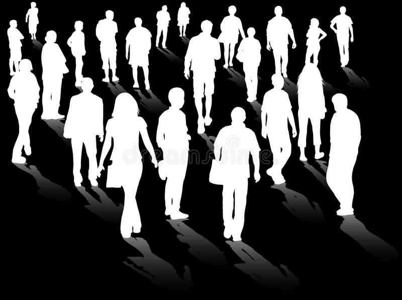 Crowd silhouettes vector illustration