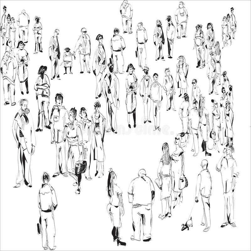 Crowd Stock Vector. Illustration Of Characters, Amount
