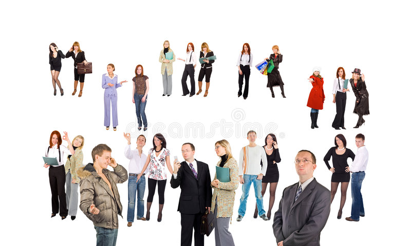 Download Crowd Of Small Groups And Single People Stock Image - Image: 5209133
