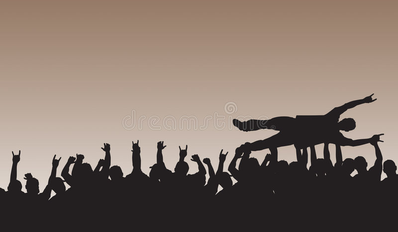 Download Crowd Surfing stock vector. Illustration of concert, rock - 1874492