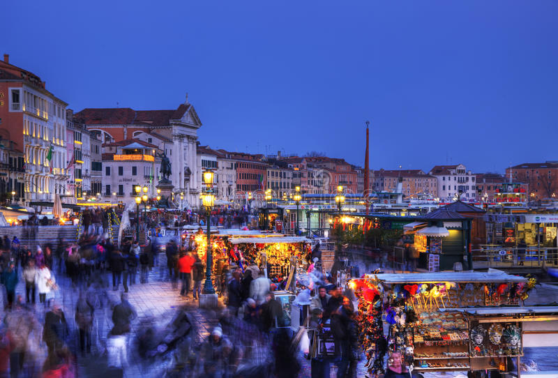 Crowd in Venice stock photography