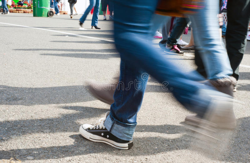 Crowd Walking Royalty Free Stock Image