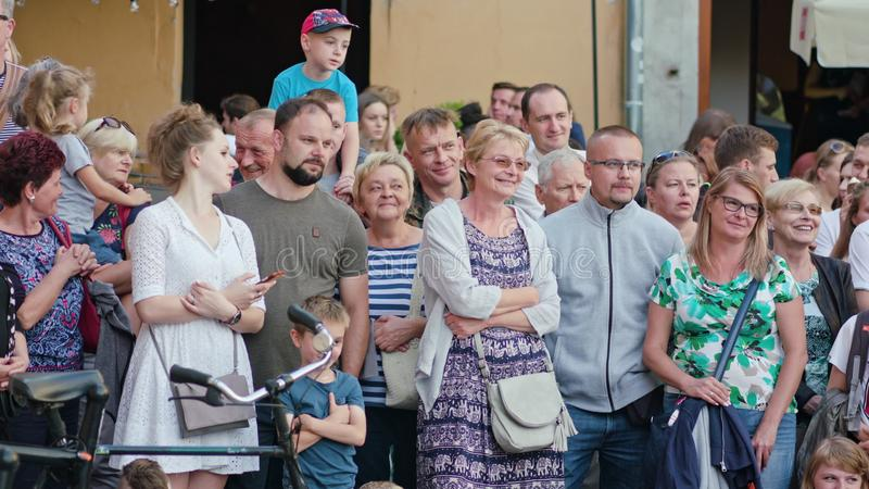 Crowd watches Mattatoio Sospeso Performes Show stock photos