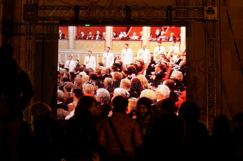 Download Crowd watching the event editorial image. Image of guests - 21757405