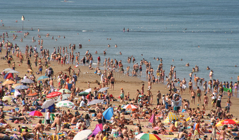 Crowded Beach Editorial Image