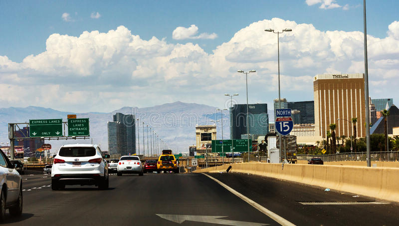 Download Crowded Interstate In Las Vegas Editorial Photography - Image: 37117897