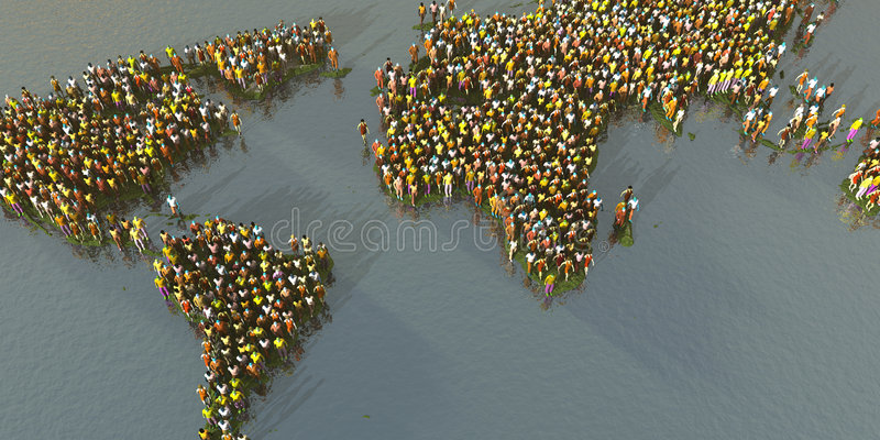 Download Crowded Planet stock illustration. Illustration of international - 1249786