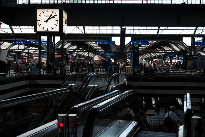 A crowded railway station royalty free stock images