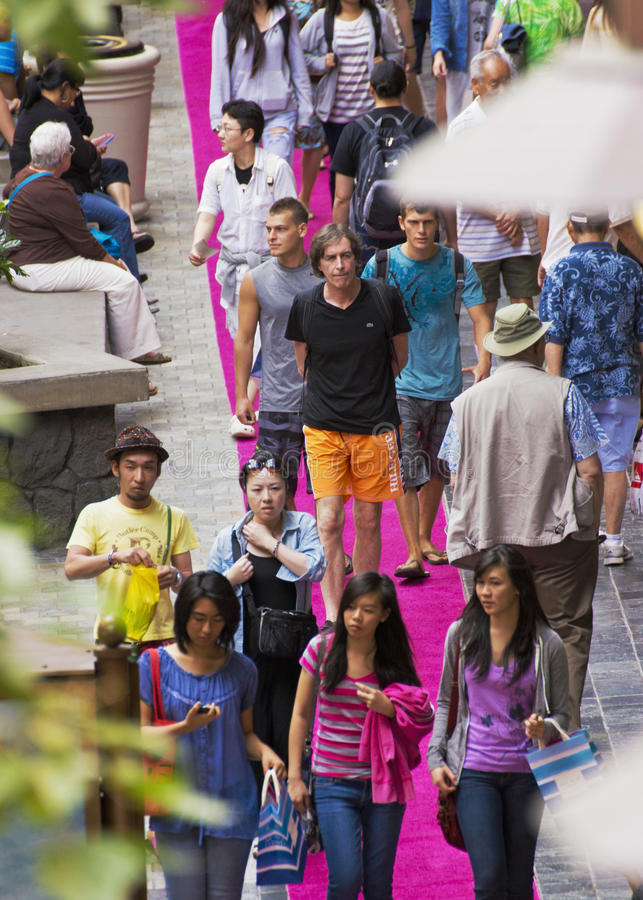 Crowded shopping mall royalty free stock image