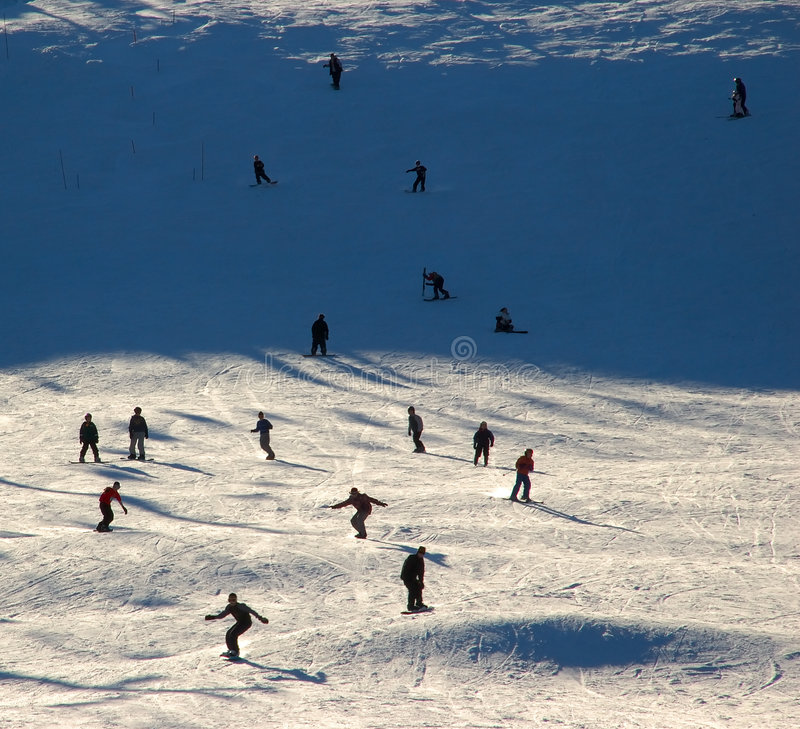 Crowded Slope royalty free stock image