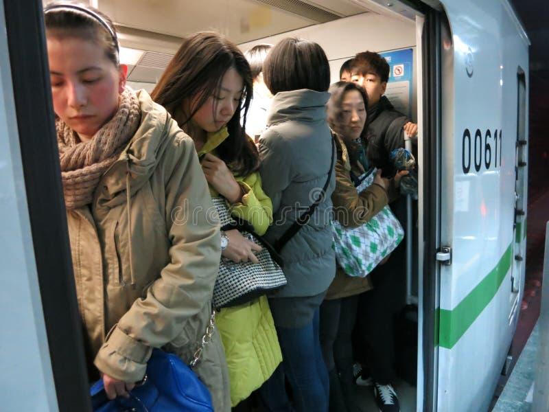 Crowded Subway royalty free stock photo