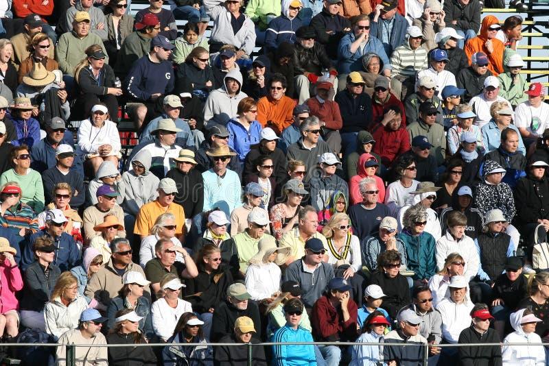 Crowded Tennis Stadium. stock image