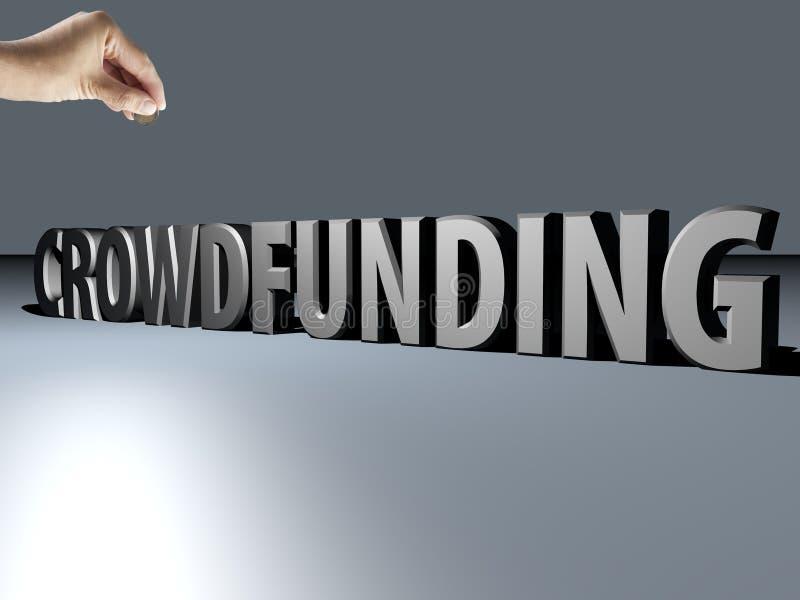 Crowdfunding arkivbild