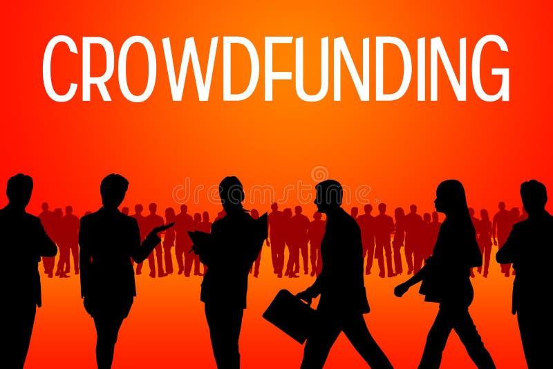 Crowdfunding ilustração do vetor