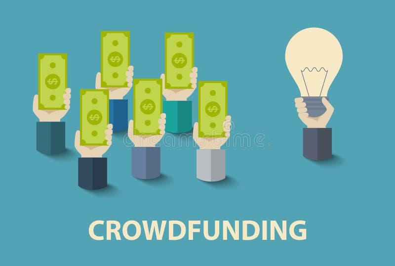 Crowdfunding1 皇族释放例证