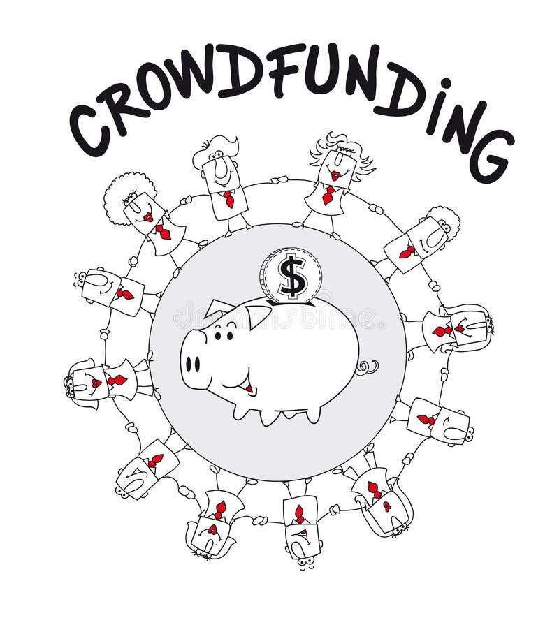 Crowdfunding libre illustration