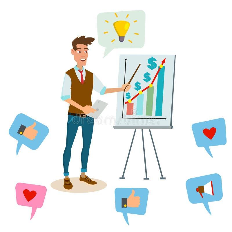 Crowdfunding, comienza para arriba vector Concepto acertado de la idea del negocio ilustración del vector