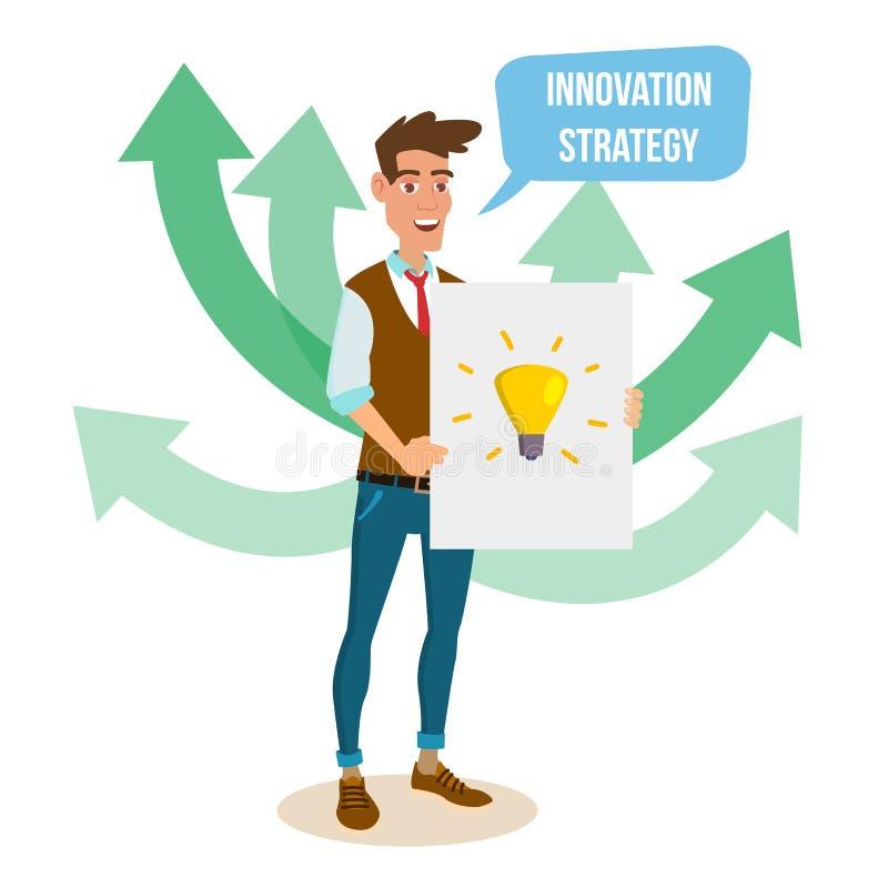 Crowdfunding, comienza para arriba vector Concepto del proceso de la financiación de la muchedumbre Innovador comience para arrib libre illustration