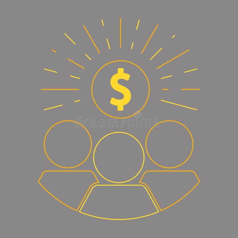 Crowdfunding en schenking vector illustratie