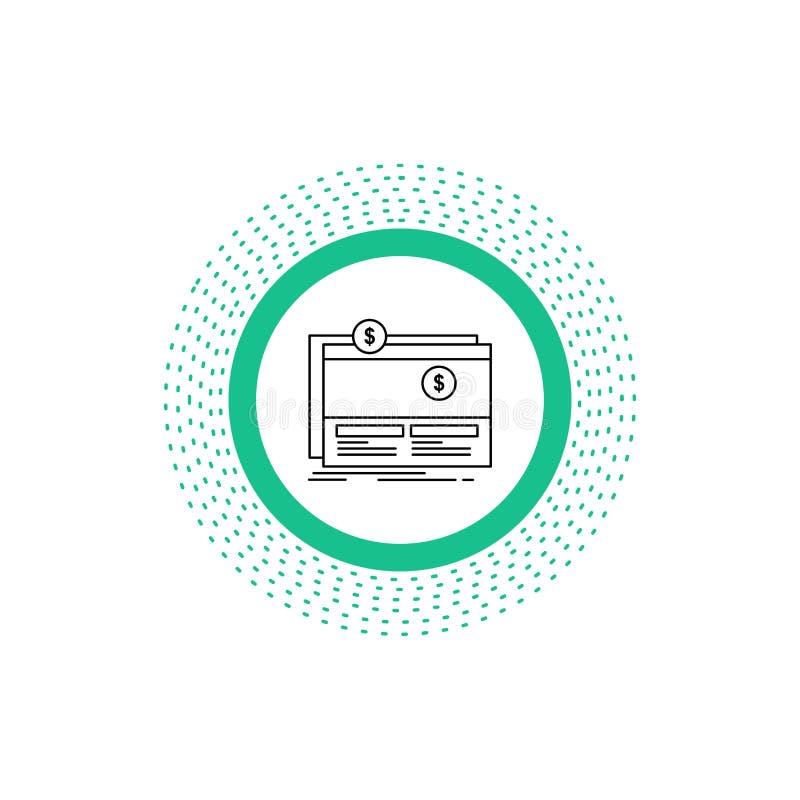 Crowdfunding, financiering, liefdadigheidsinstelling, platform, het Pictogram van de websitelijn Vector ge?soleerde illustratie stock illustratie