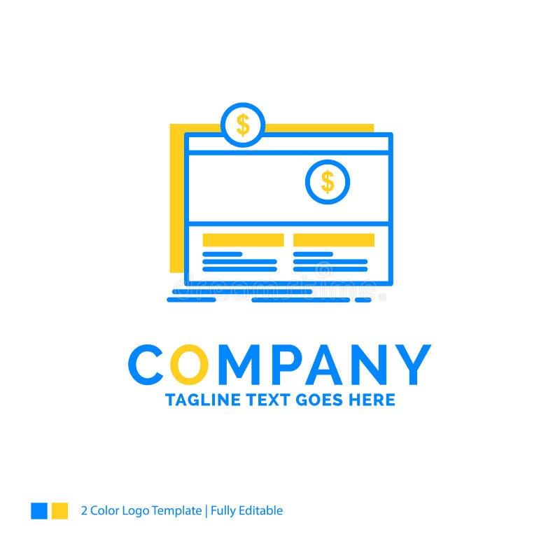 Crowdfunding, Finanzierung, beschaffend, Plattform, Website blaues Yello Mittel vektor abbildung
