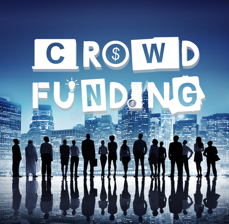Crowdfunding Fundraising Contribution Investment Concept royalty free stock photos