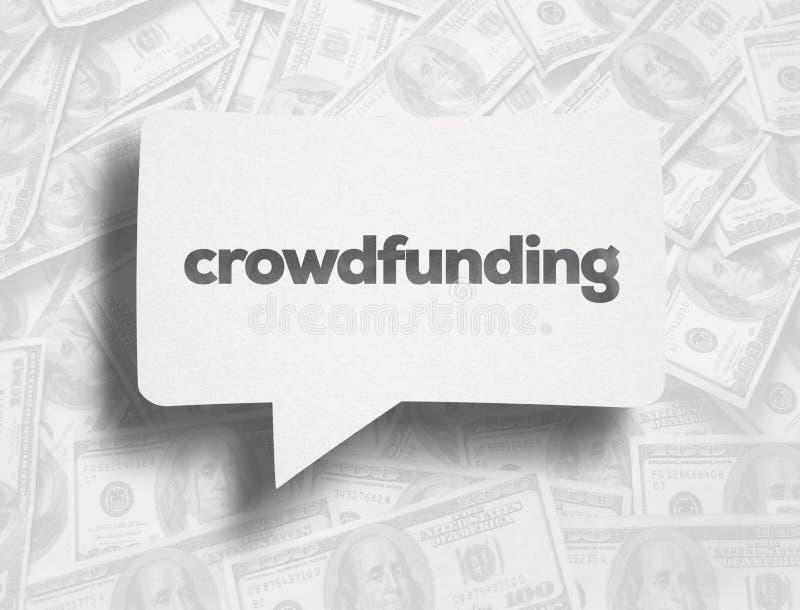 Crowdfunding royalty ilustracja