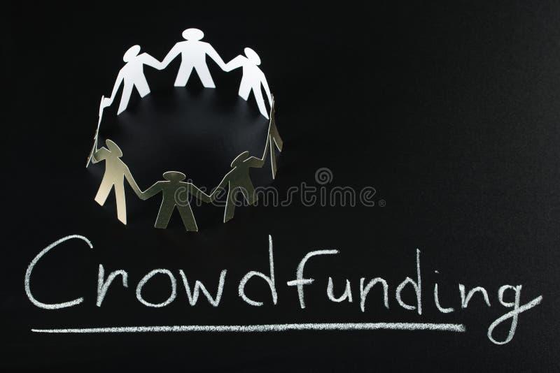 Crowdfunding pojęcie obrazy royalty free