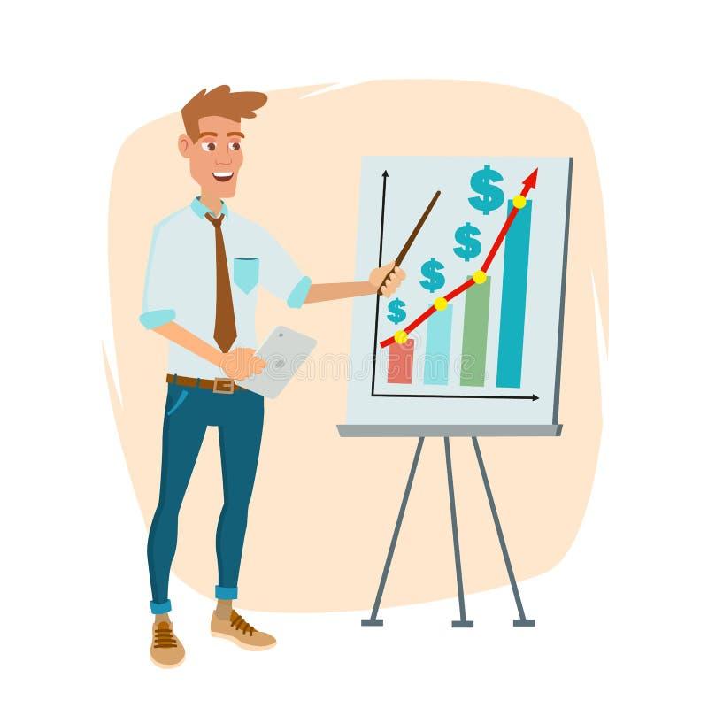 Crowdfunding startar upp vektorn Yrkesmässigt idérikt folk Lyckade finansiella startar upp strategiplanläggningsmöte vektor illustrationer