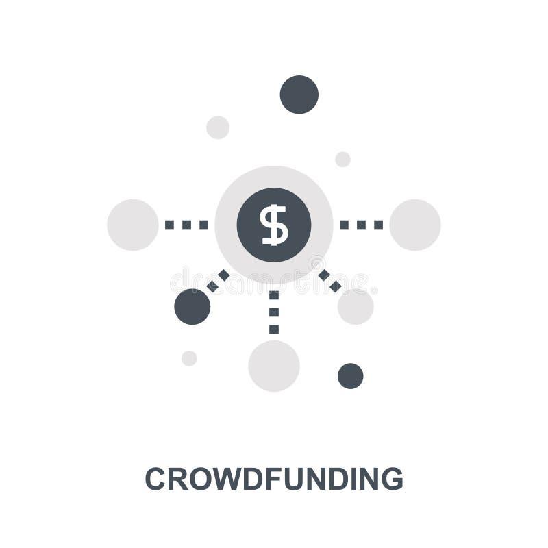 Crowdfunding symbolsbegrepp royaltyfri illustrationer