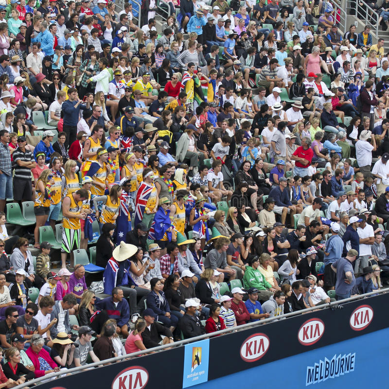 Download Crowds At 2011 Australian Open Editorial Stock Photo - Image: 18711768