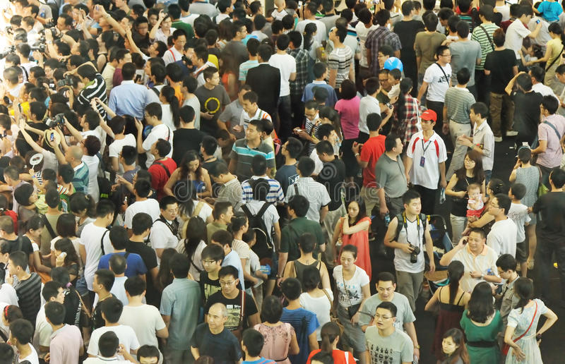 Crowds stock photo