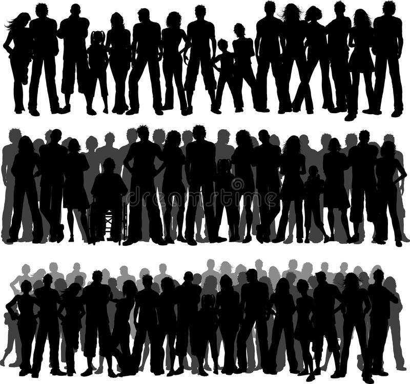 Crowds of people vector illustration