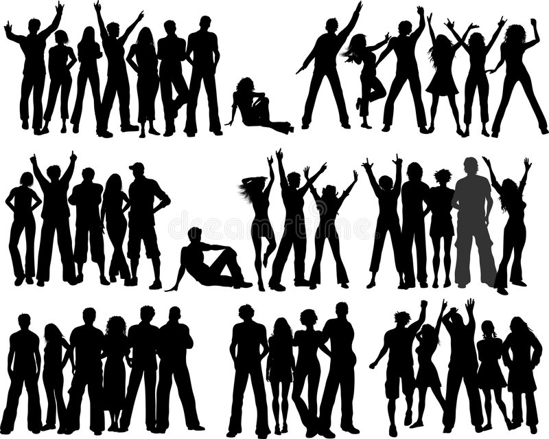 Crowds of people royalty free illustration