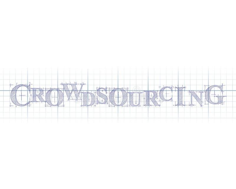 Crowdsourcing το τεχνικό Word απεικόνιση αποθεμάτων