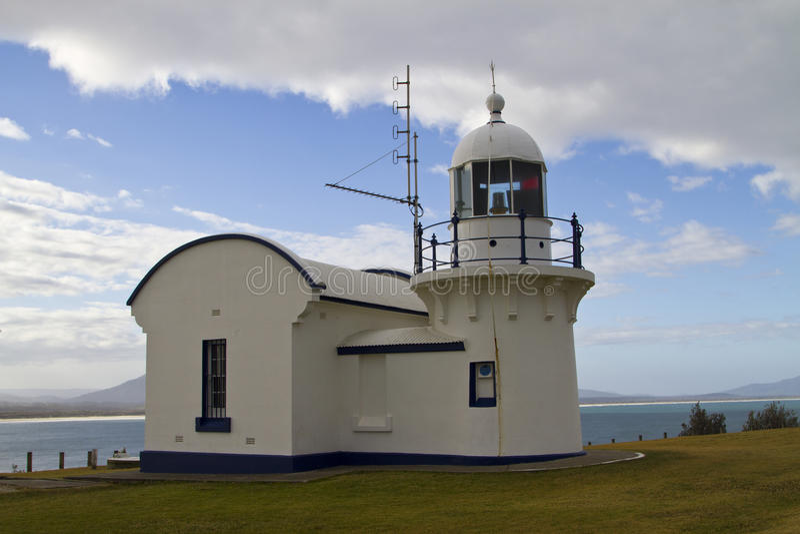Crowdy głowy latarnia morska, NSW obraz stock