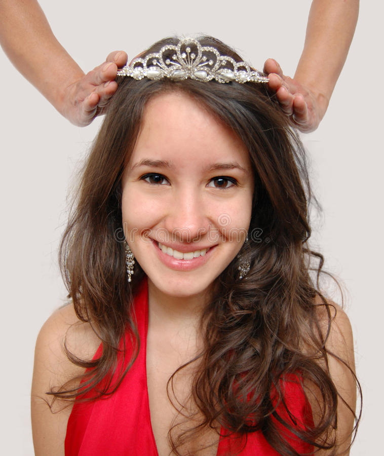 Crowing a Princess royalty free stock photography