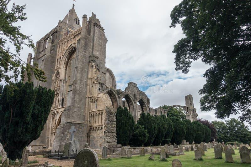 Crowland修道院,英国废墟  免版税库存照片