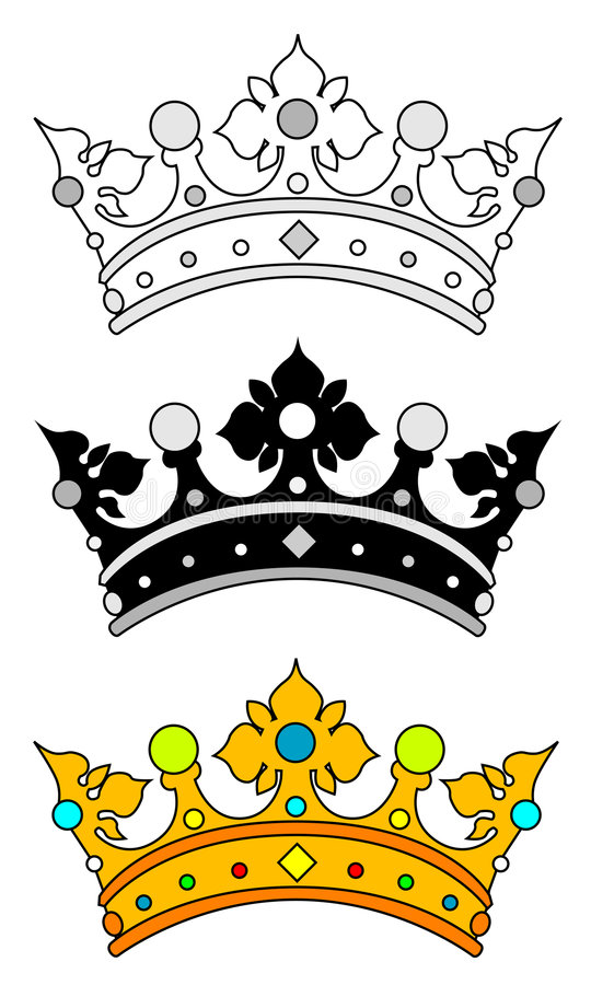 Download Crown stock vector. Illustration of pattern, painting - 4344425