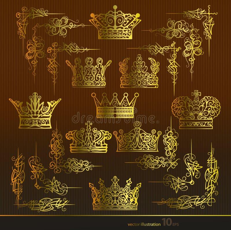 Crown,Area,gold stock illustration